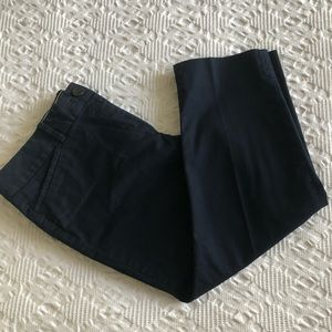 TALBOTS PERFECT CROP PANTS IN NAVY BLUE